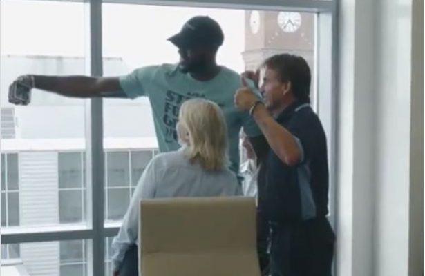 Video: LeBron James Surprises Goodyear Employees in Akron, Ohio