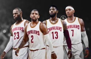 LeBron James, Kyrie Irving, Paul George, Carmelo Anthony Cavs