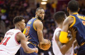Jimmy Butler and LeBron James Cavs