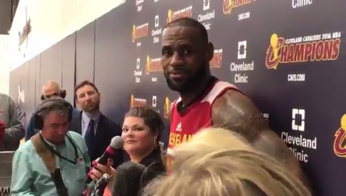 Video: LeBron James Discusses Whether or Not Defending Kevin Durant Is Wearing Him Down