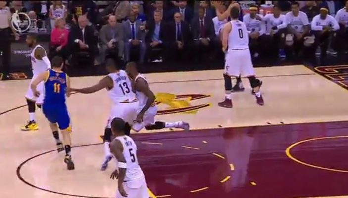 Video: LeBron James Takes Brutal Shot to Jaw From Tristan Thompson