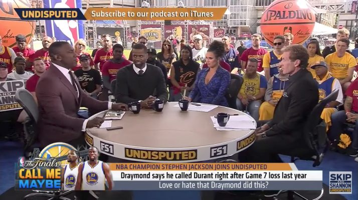Video: Skip Bayless and Shannon Sharpe Call Draymond Green a B---- for Recruiting Kevin Durant