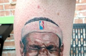 LeBron James Hater Gets Disrespectful Tattoo on His Calf