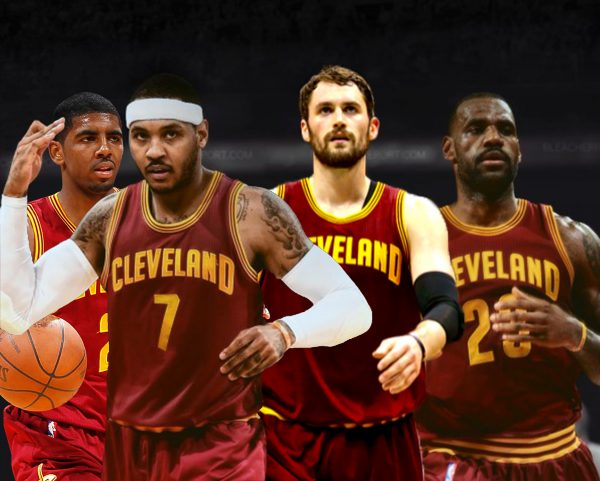 Kyrie Irving, Carmelo Anthony, Kevin Love, and LeBron James