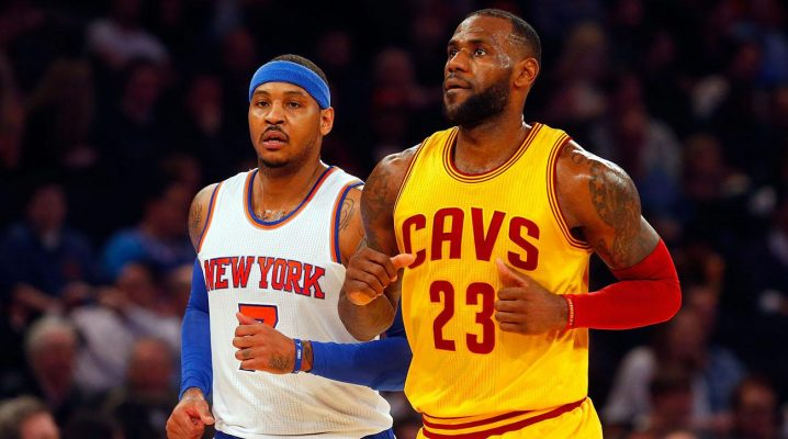 Carmelo Anthony and LeBron James Cavs
