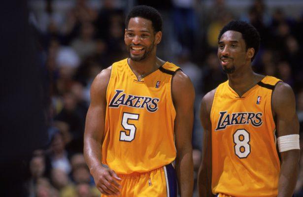 Robert Horry and Kobe Bryant