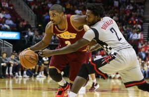 Kyrie Irving and Patrick Beverley