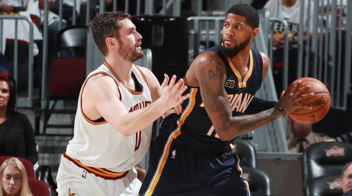 Kevin Love and Paul George