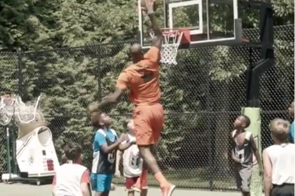 Video: LeBron James Dunks on Kids at Son Bryce's Birthday Bash
