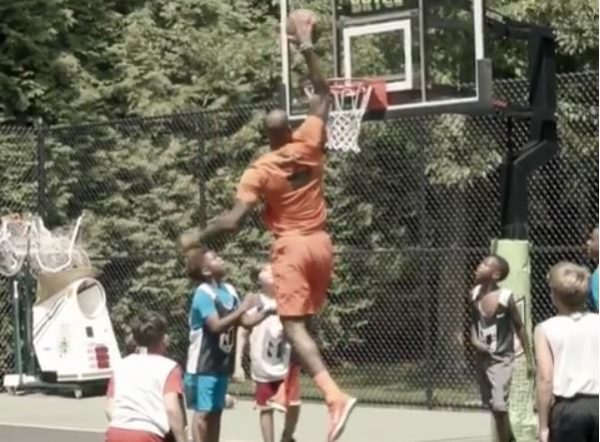 Video: LeBron James Dunks on Kids at Son Bryce's Birthday Bash