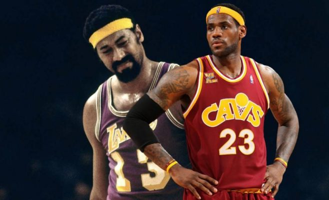 Wilt Chamberlain and LeBron James