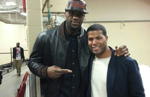 LeBron James and Brandon Weems