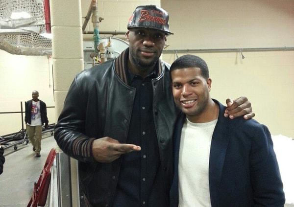 LeBron James and Brandon Weems