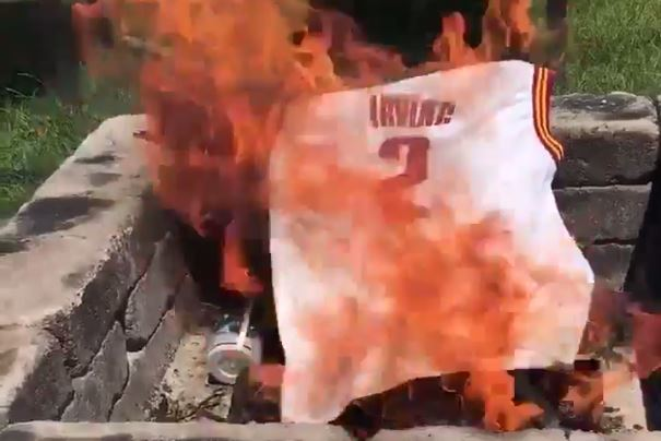 Kyrie Irving Jersey Burning