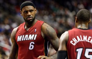LeBron James and Mario Chalmers