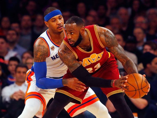 Carmelo Anthony and LeBron James Knicks Cavs