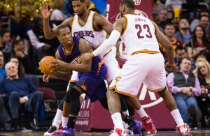 Eric Bledsoe and LeBron James Cavs