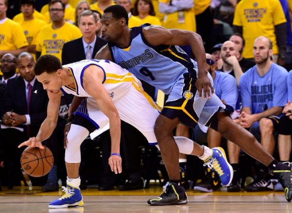 Stephen Curry and Tony Allen