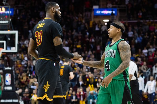 LeBron James and Isaiah Thomas