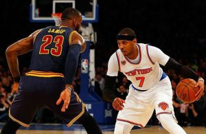LeBron James and Carmelo Anthony Cavs Knicks