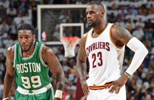 Jae Crowder and LeBron James