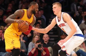 LeBron James and Kristaps Porzingis Cavs