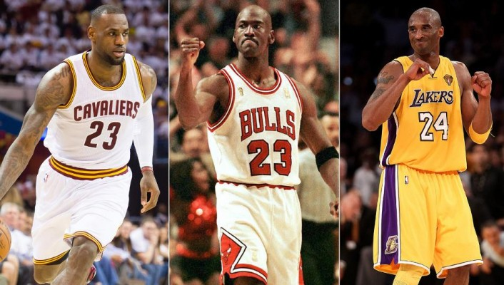 LeBron James Michael Jordan and Kobe Bryant