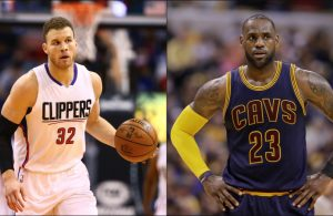Blake Griffin and LeBron James