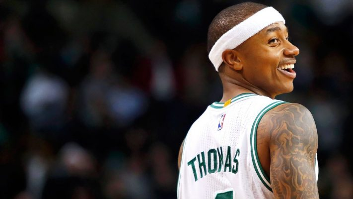 Isaiah Thomas Laughing Boston Celtics