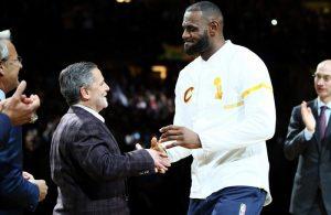 LeBron James and Dan Gilbert