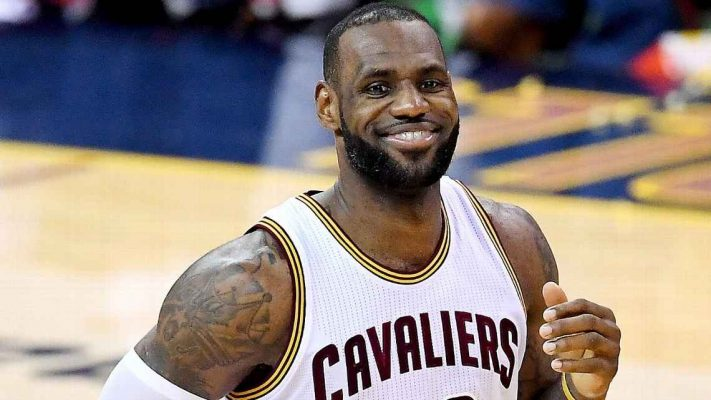 LeBron James Smiling Cavs