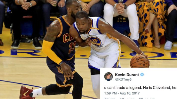 LeBron James vs. Kevin Durant