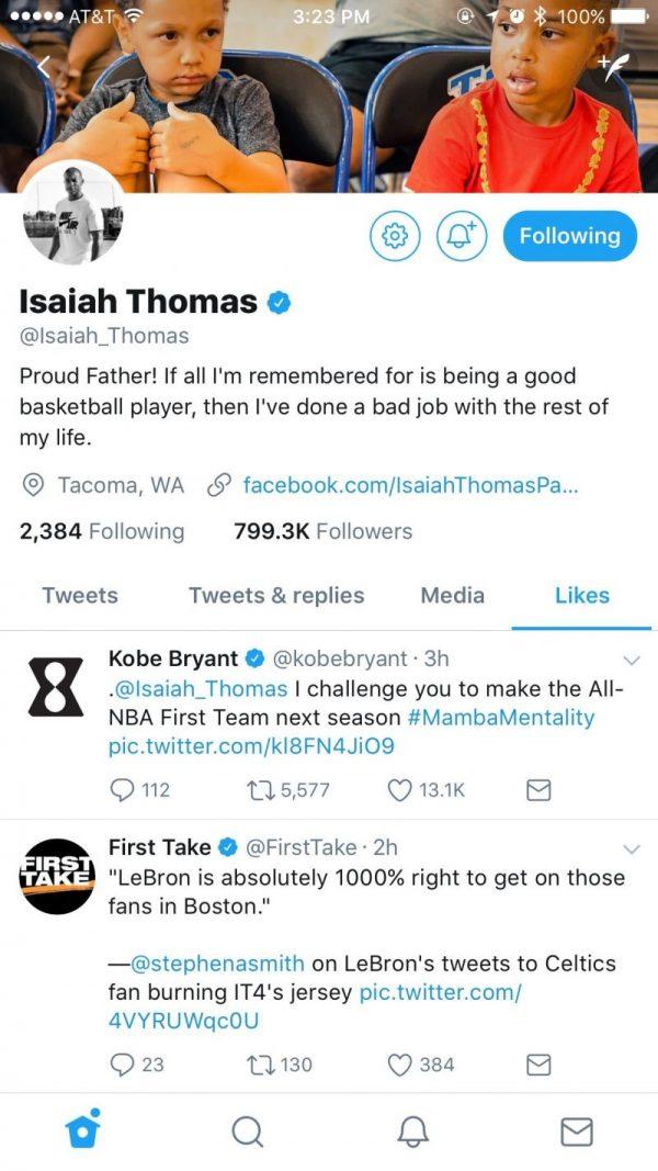 Isaiah Thomas Twitter