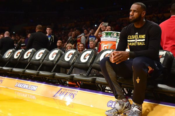 LeBron James Resting