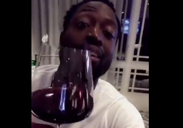 Video: Dwyane Wade Celebrates His First Cavs Practice With LeBron James and Wine