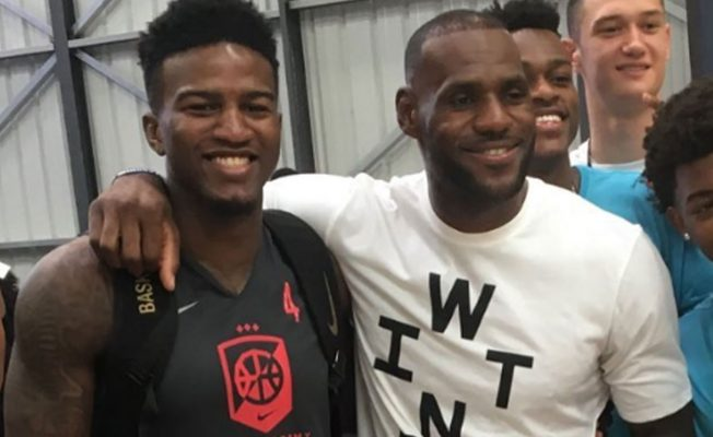 Jordan Bell and LeBron James