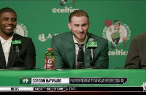 Gordon Hayward and Kyrie Irving Boston Celtics