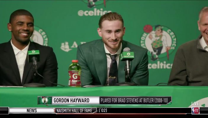 Gordon Hayward and Kyrie Irving Boston Celtics