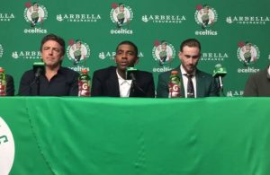 Kyrie Irving Boston Celtics Introductory Press Conference
