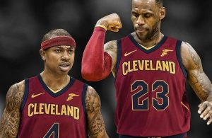 Isaiah Thomas and LeBron James Cavs