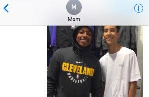 Isaiah Thomas Kid and Mom Text Message