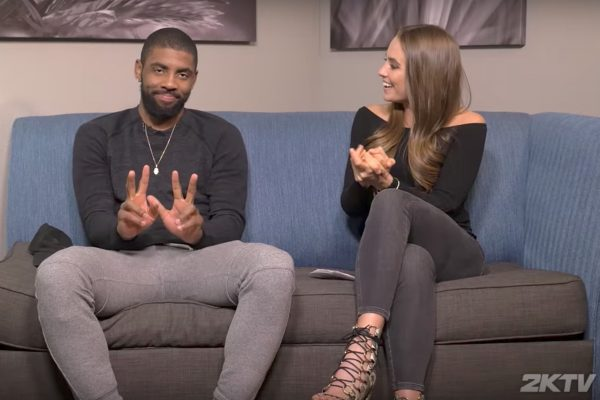 Kyrie Irving and Rachel DeMita