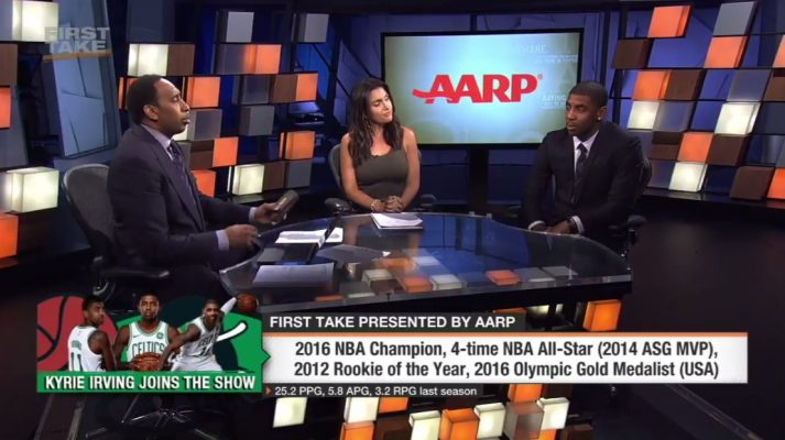 Kyrie Irving First Take Stephen A. Smith
