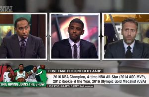Kyrie Irving First Take Stephen A. Smith Max Kellerman