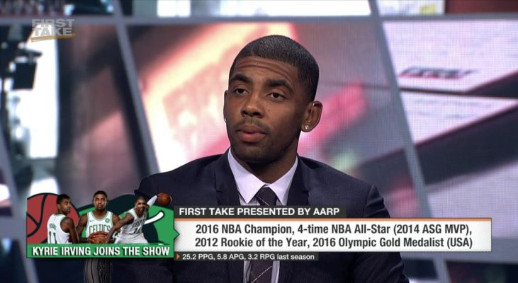 Kyrie Irving drilled about LeBron James in new interview