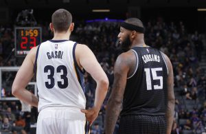 Marc Gasol and DeMarcus Cousins