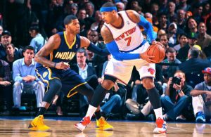Paul George and Carmelo Anthony