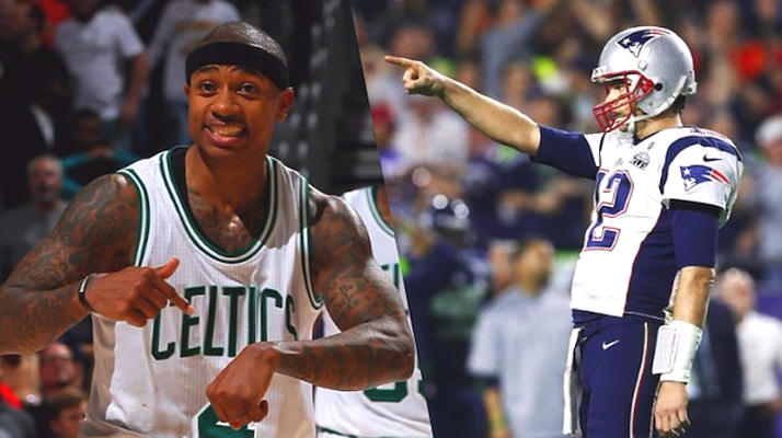 Isaiah Thomas and Tom Brady