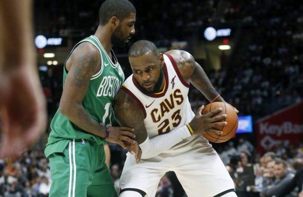 Kyrie Irving and LeBron James, Cavs vs. Celtics