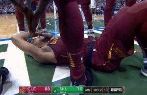 Video: Derrick Rose Goes Down After Hard Foul by Bucks Big Man